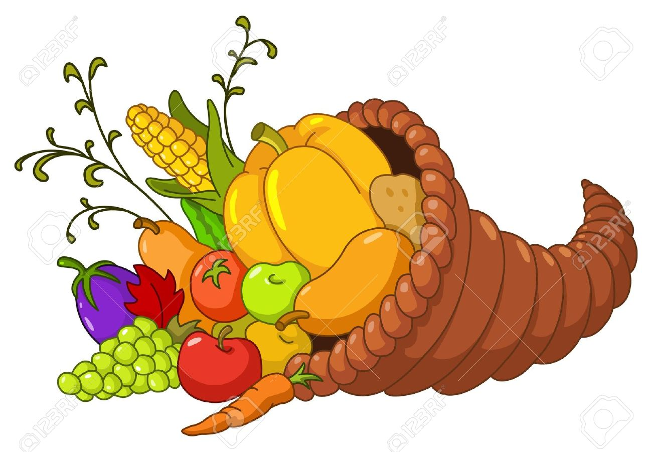 Fall vegetables clipart.