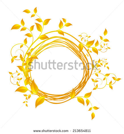 Vector Illustration Of Autumn Gold Leaves.