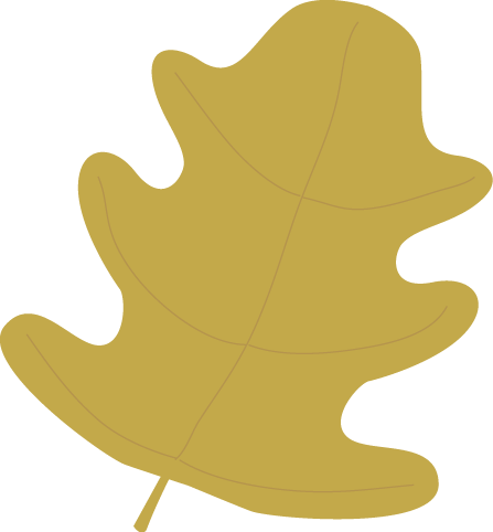 Gold Oak Autumn Leaf Clip Art.