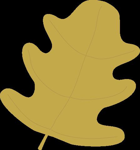 Gold Oak Autumn Leaf Clip Art.