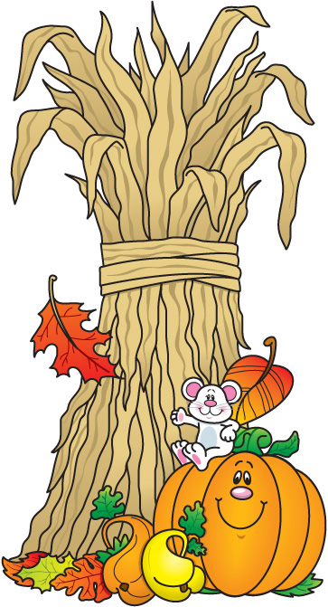 Images of autumn harvest dinner clipart.