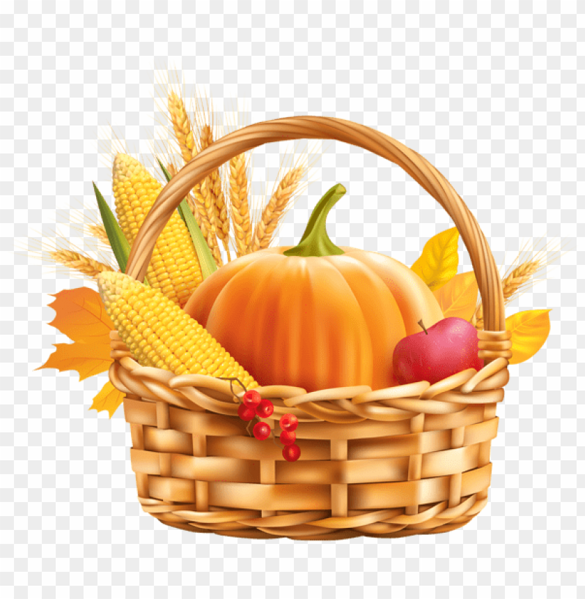 Download autumn harvest basket clipart png photo.