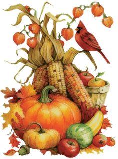 Image of autumn harvest dinner clipart.