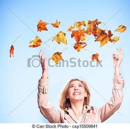 Stock Photo of Autumn joy.