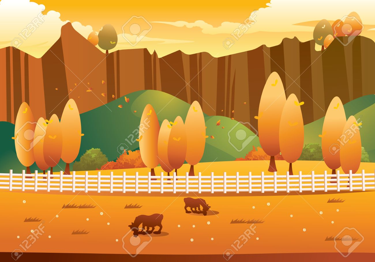 Autumn Landscape Royalty Free Cliparts, Vectors, And Stock.