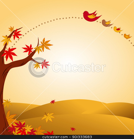 Fall landscapes clipart.