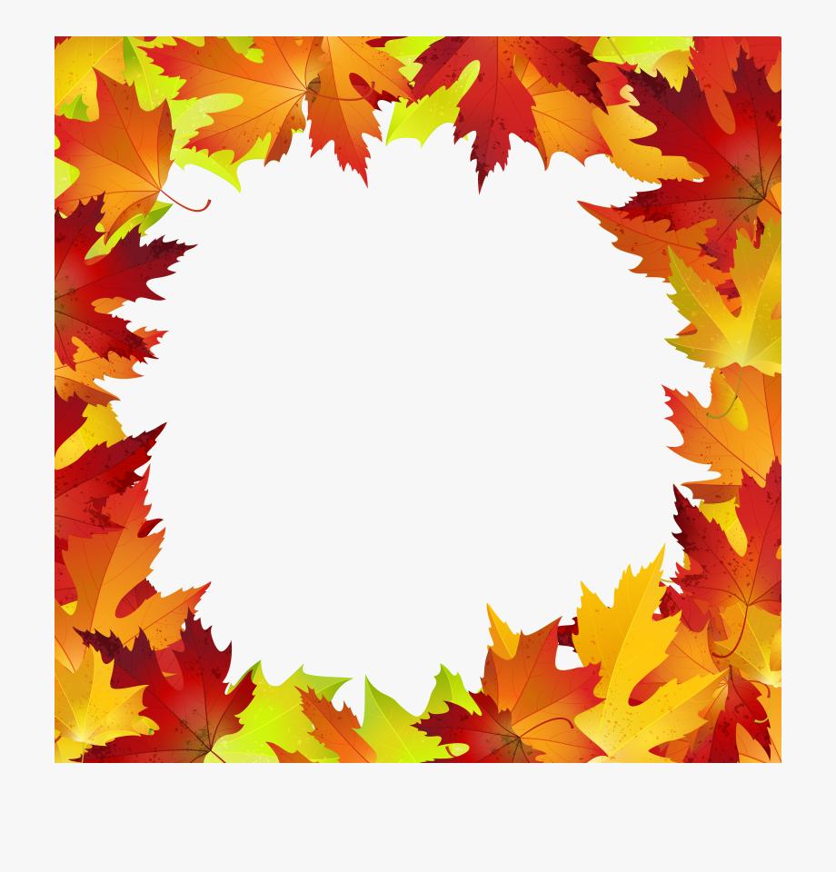 Autumn Leaves Border.