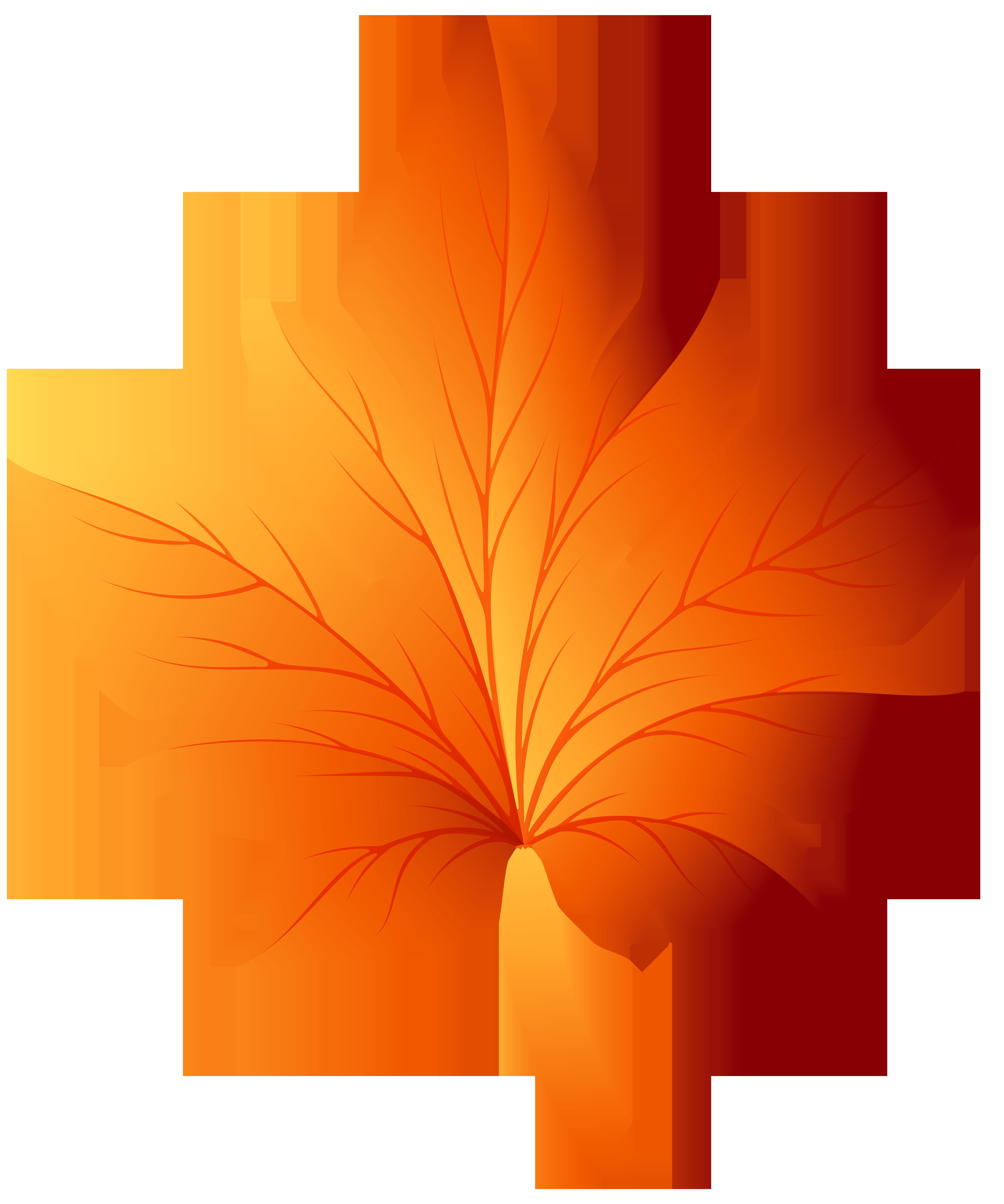 Autumn Leaf Transparent PNG Clip Art Image.