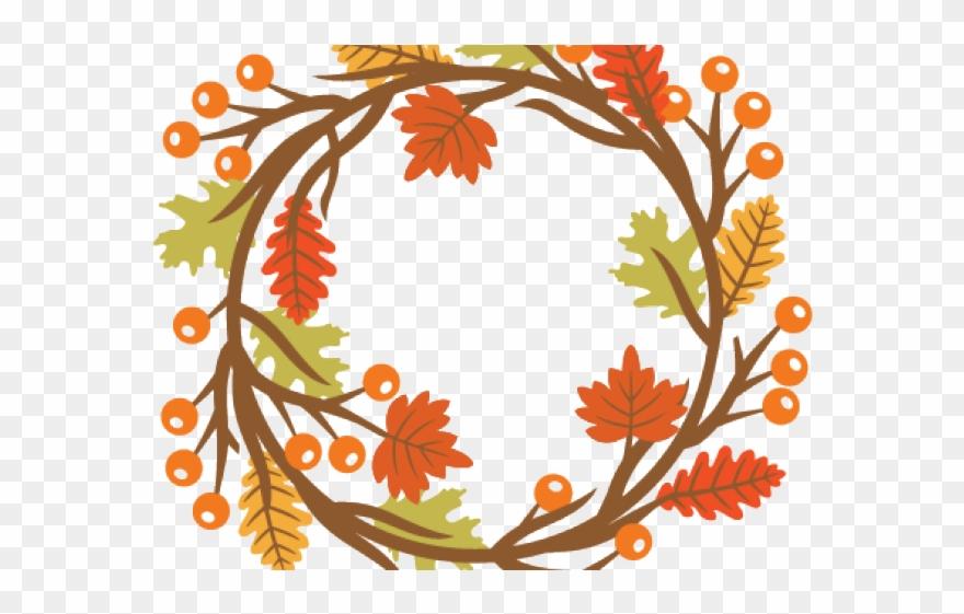 Fall Clipart Wreath.