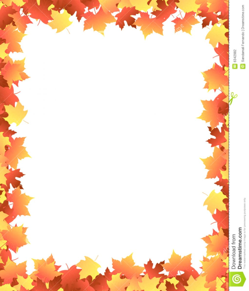 Autumn Leaves Border Clipart.