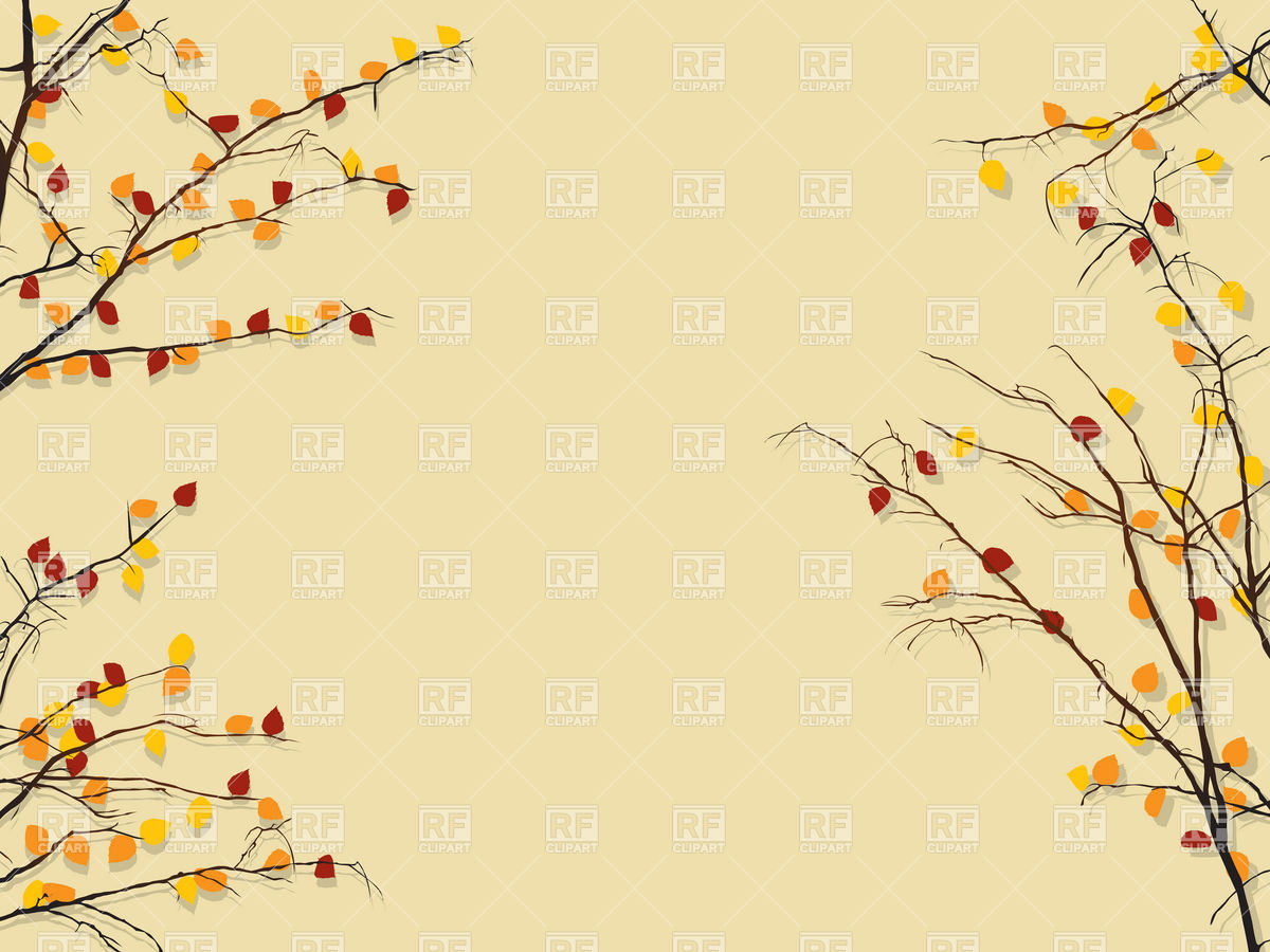 Branch with autumn leaves Stock Vector Image.