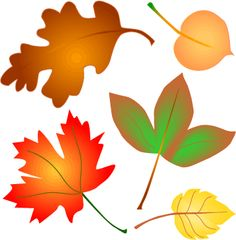 Printable Autumn Leaves Clipart.