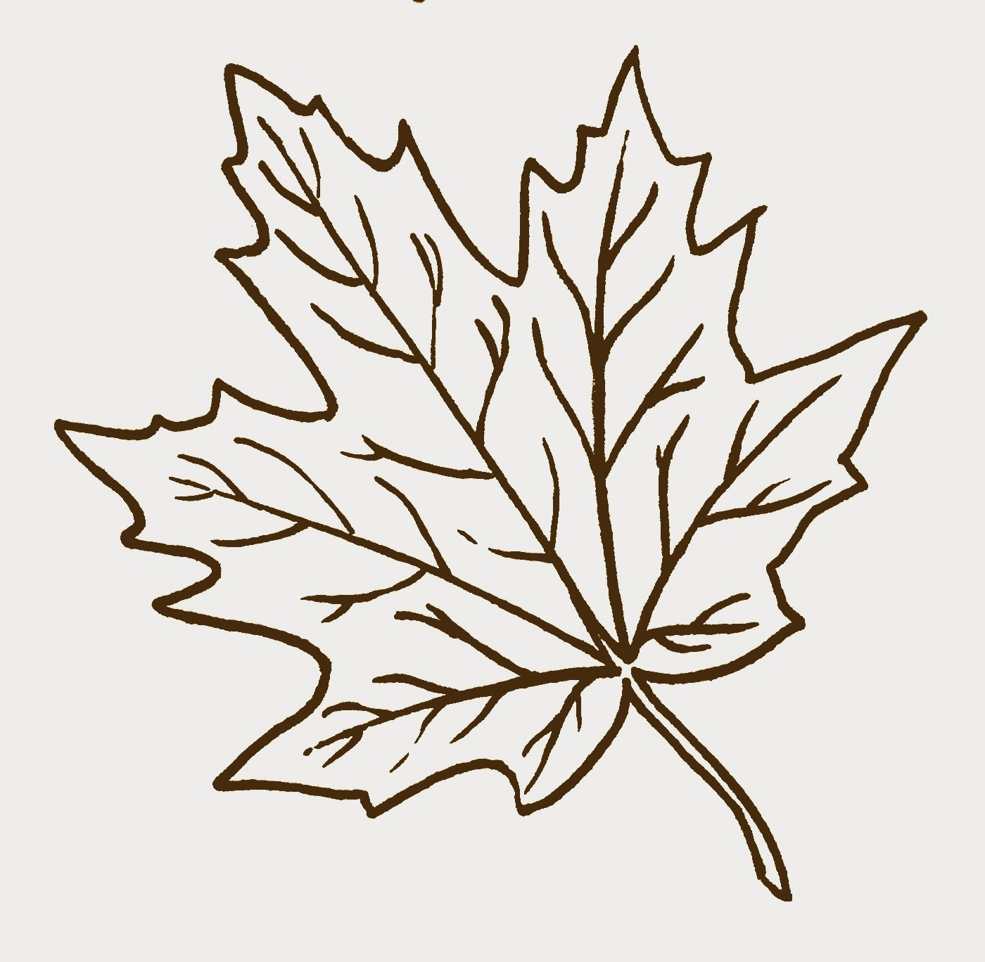 Fall leaves clip art black and white 2.