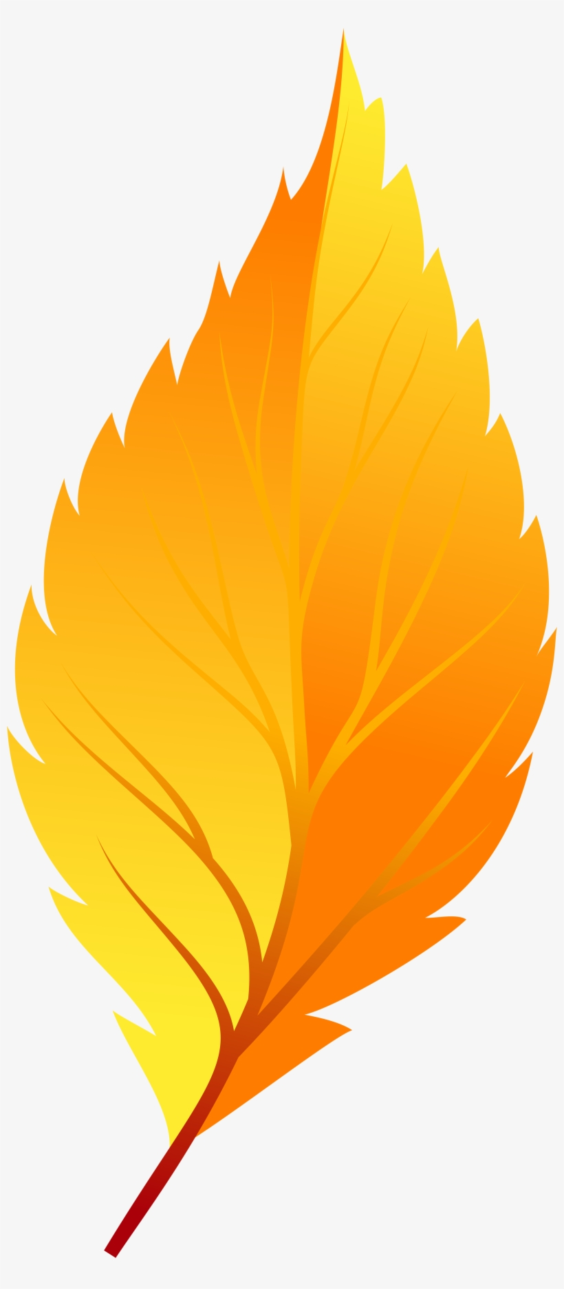 Yellow Autumn Leaf Png Clip Art.