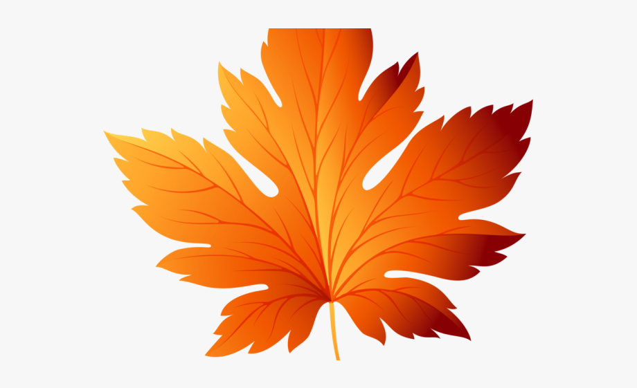 Leaves Clipart Orange Leaf.