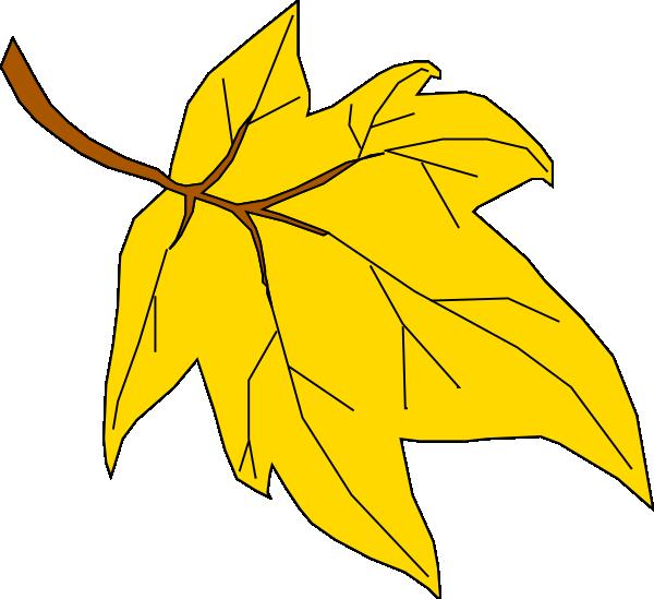 Yellow Oak Leaf Clipart.