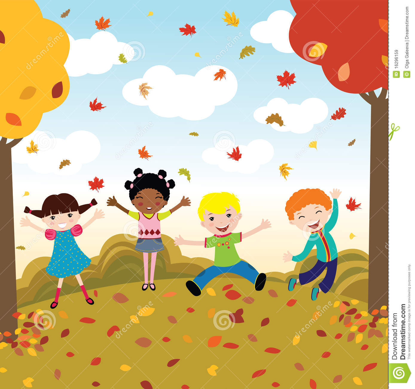 Autumn Season Clipart For Kids.
