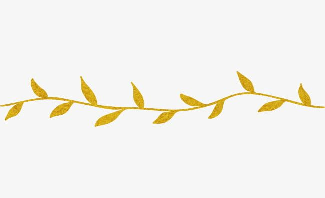 Yellow Leaves Dividing Line PNG, Clipart, Autumn.