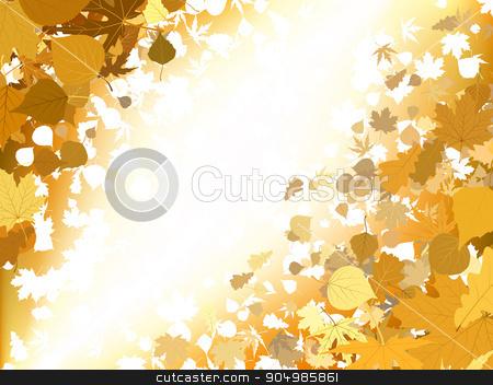 Autumn light background. EPS 8 stock vector.