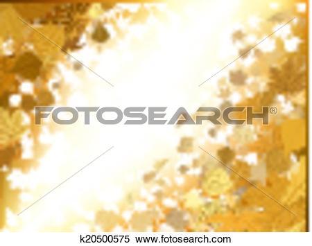 Clipart of Autumn light background. EPS 8 k20500575.