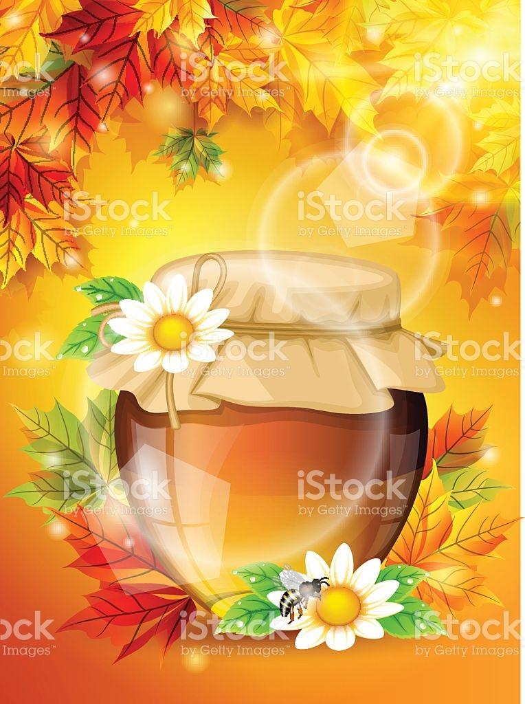Realistic Sunny Autumn Light Bright Maple Leaves stock vector art.