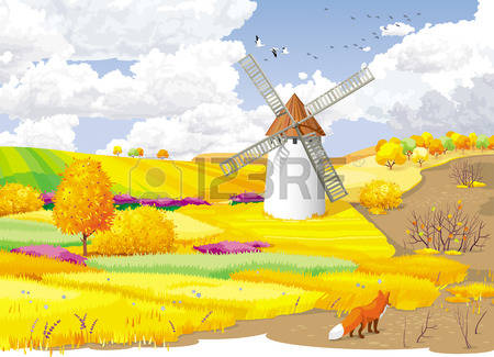 5,318 Autumn Meadow Stock Vector Illustration And Royalty Free.