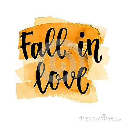 Fall Handwritten Brush Calligraphy And Autumn Motives. Lettering.