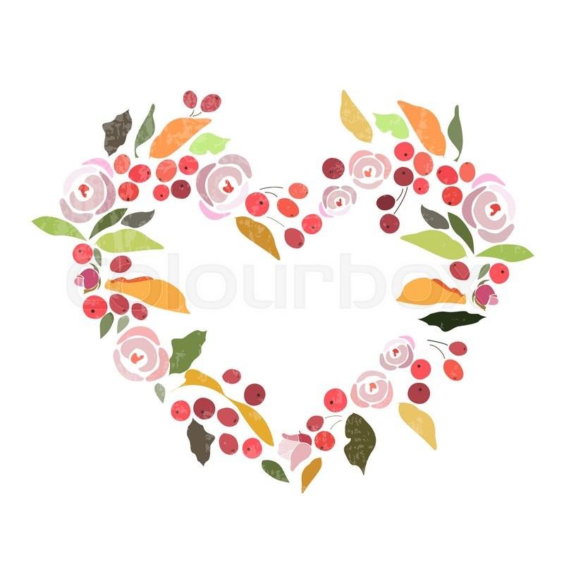 Autumn/winter wedding floral wreath with flowers, herbs, flower.