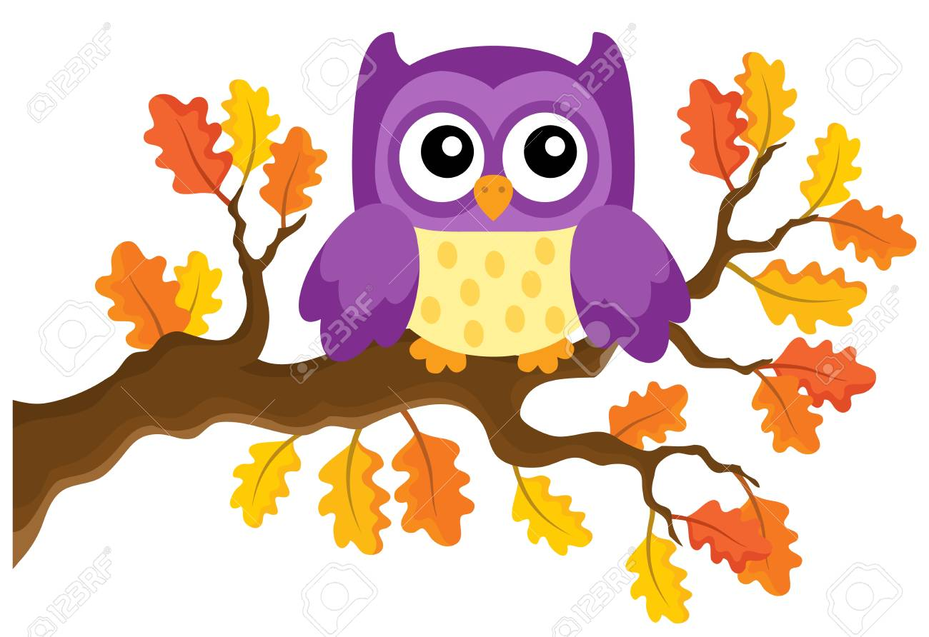Autumn owl theme image 1.