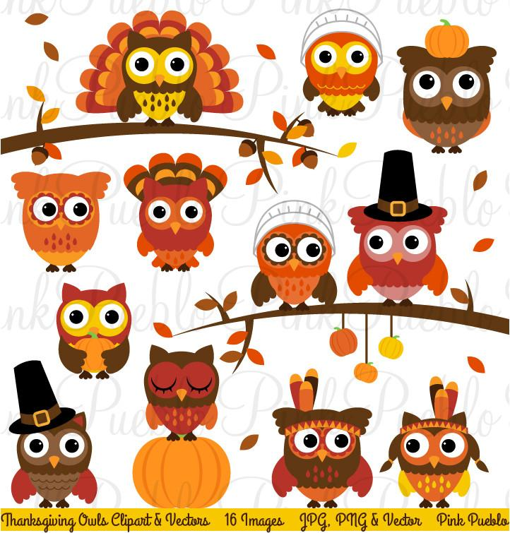 Thanksgiving Owl Clipart & Vectors.