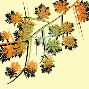 Autumn_Leaves_On_A_Branch_Royalty_Free_Clipart_Picture_100917.