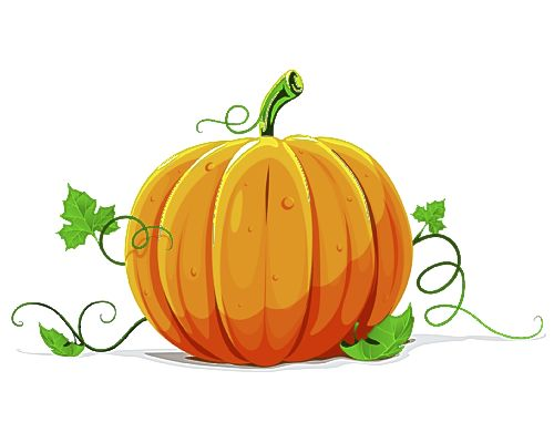 Cute Fall Pumpkin Clipart.