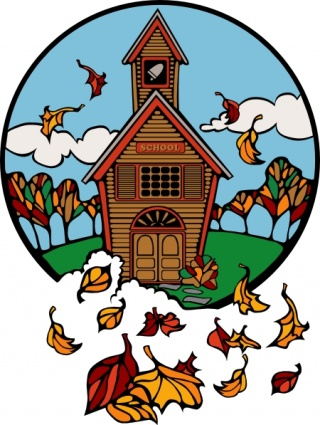 Autumn Church Cliparts.