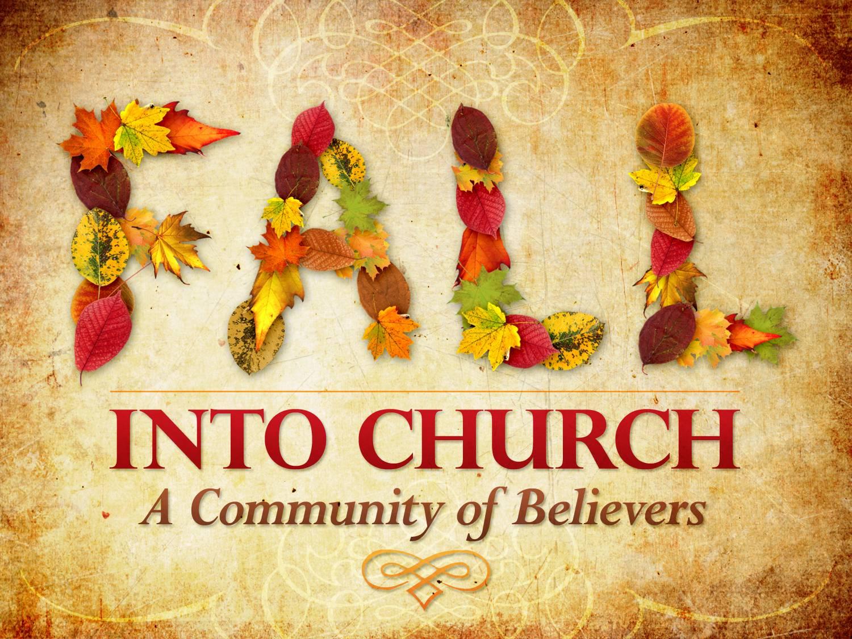 Autumn Church Cliparts.