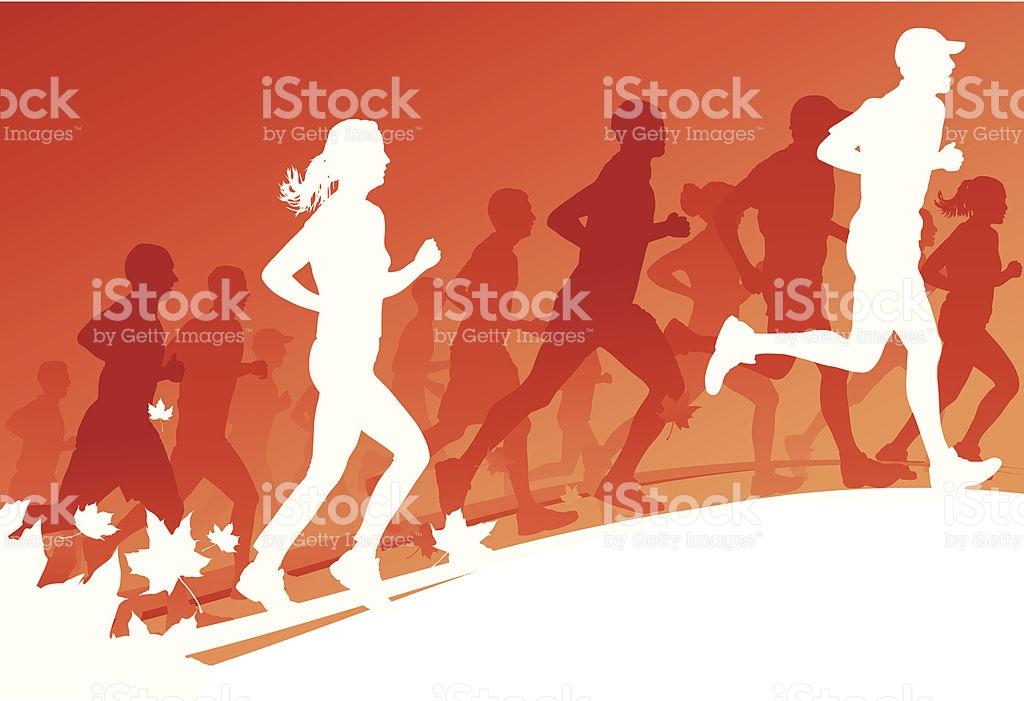 Autumn Run stock vector art 164551724.
