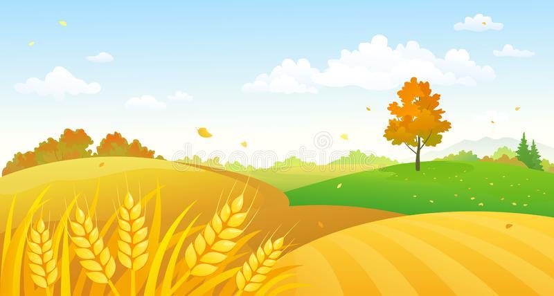 Fall Scene Clip Art Stock Illustrations.