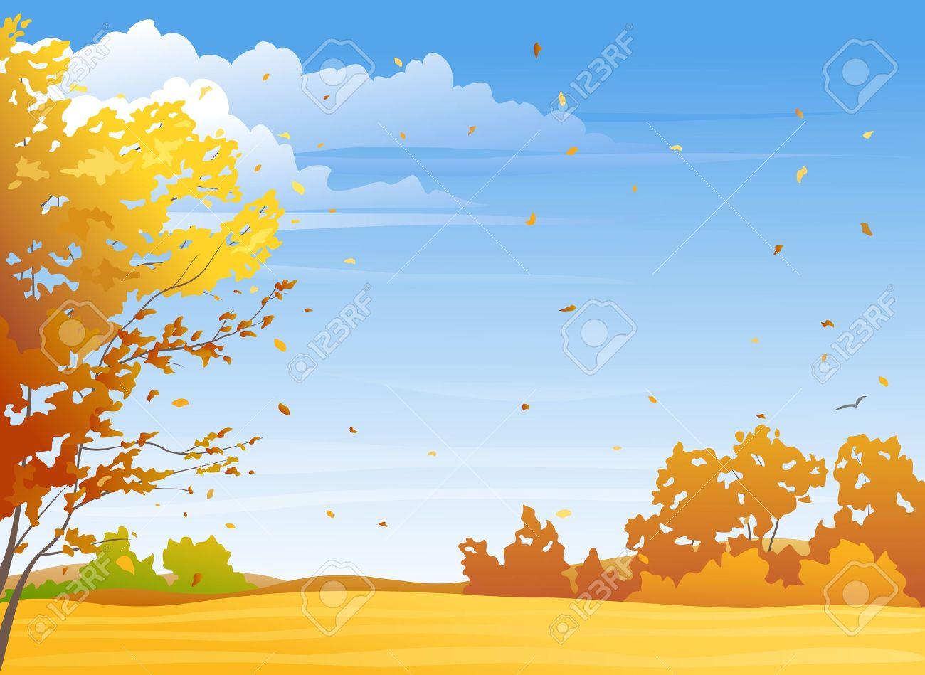 Autumn Scene Clipart.