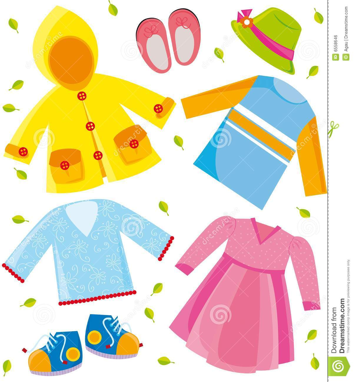 Spring Season Clothes Clipart.