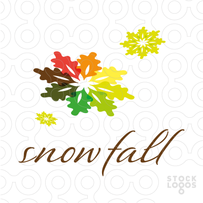 Exclusive Customizable Logo For Sale: autumn snow.