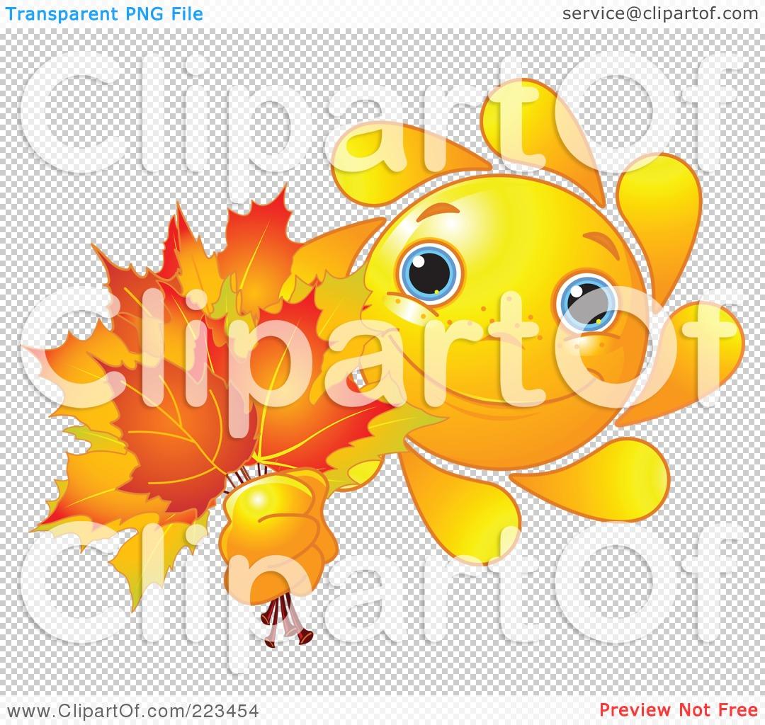 Autumn sun clipart #6