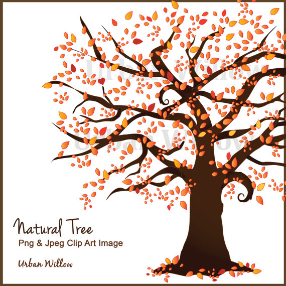 Fall Tree Clipart Clipart Autumn Tree Family Trees by UrbanWillow.