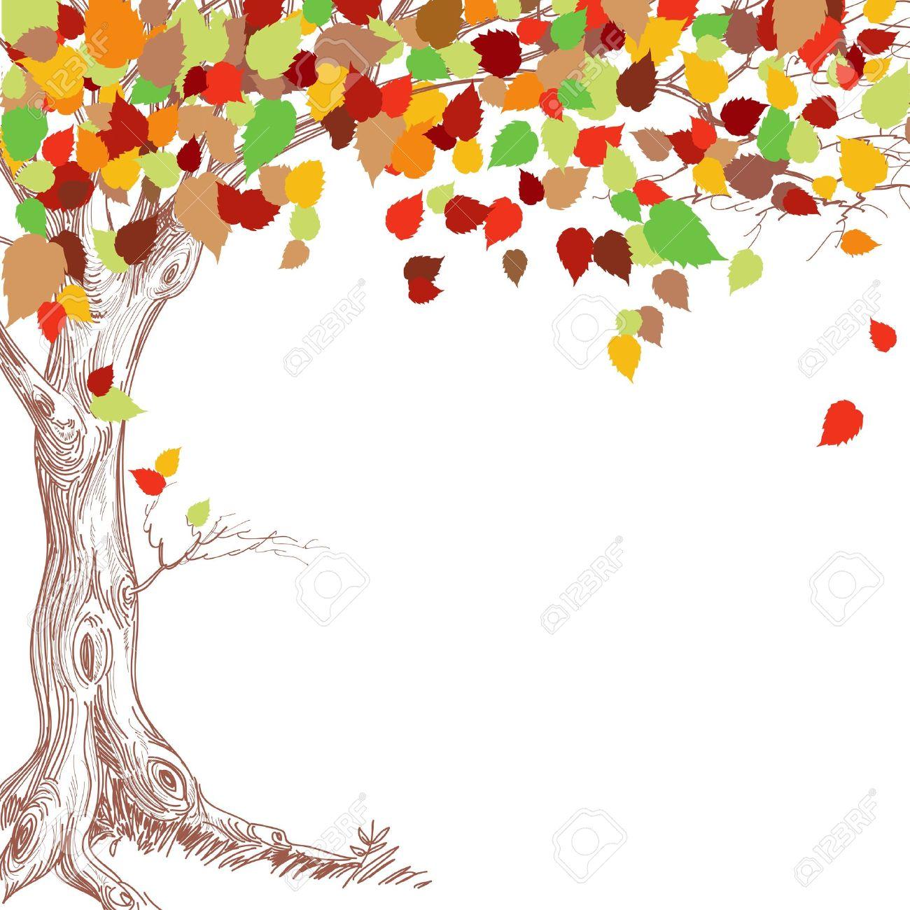 Fall Tree Border Clipart.