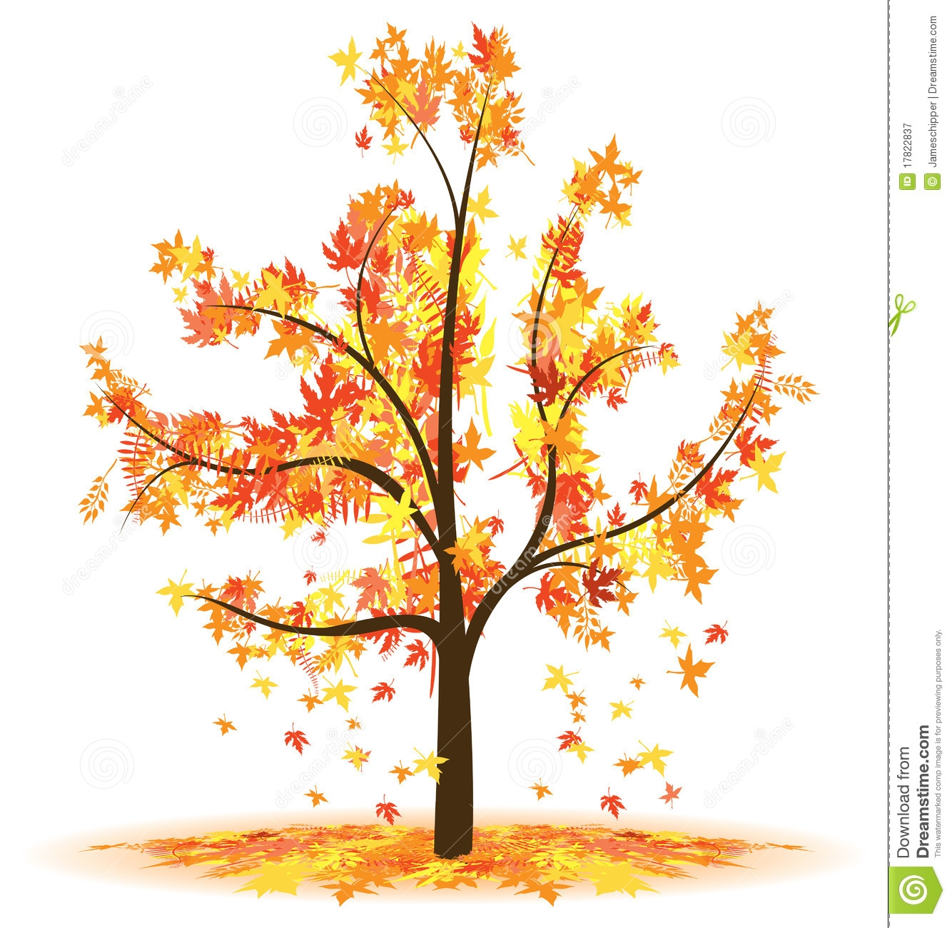 Autumn tree clip art free.