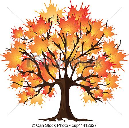 Tree clipart fall free.