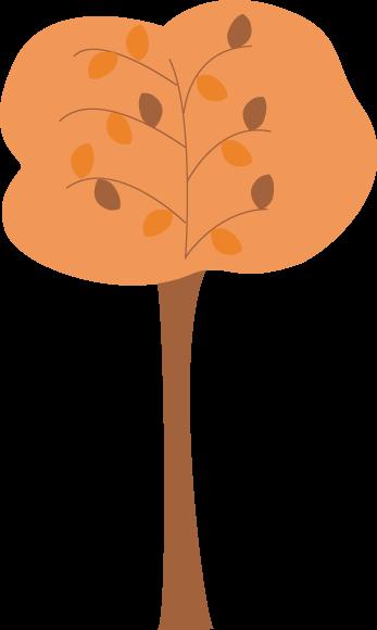 Orange Autumn Tree Clip Art.