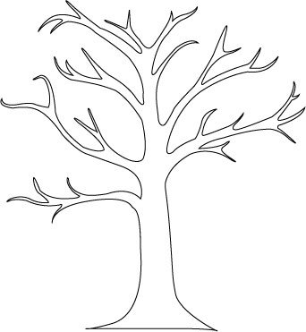 Autumn Tree Clipart Black And White.