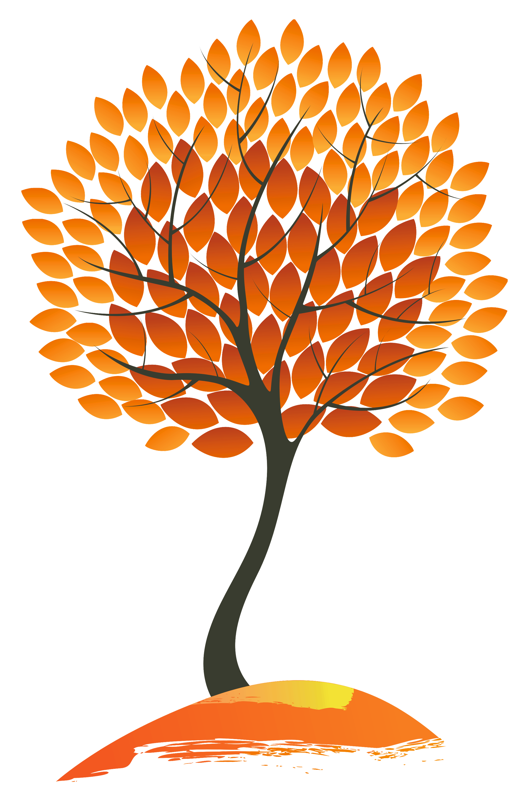 Autumn Tree PNG Clipart Image.