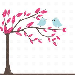 Best Photospring Two Birds In Love Vector Draw.