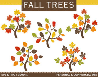 BUY 1 GET 1 FREE Digital Autumn Forest Clip by TheCreativeMill.
