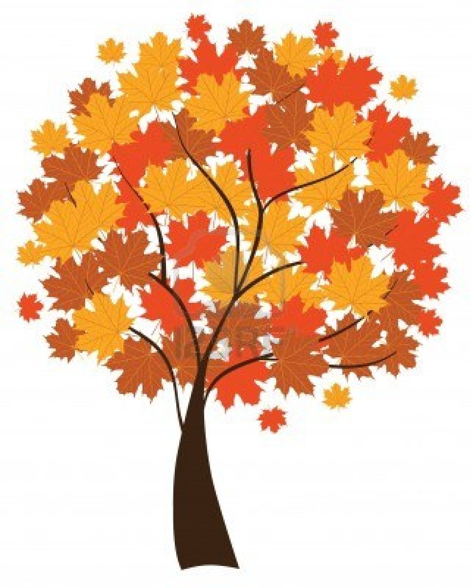 September trees clipart.